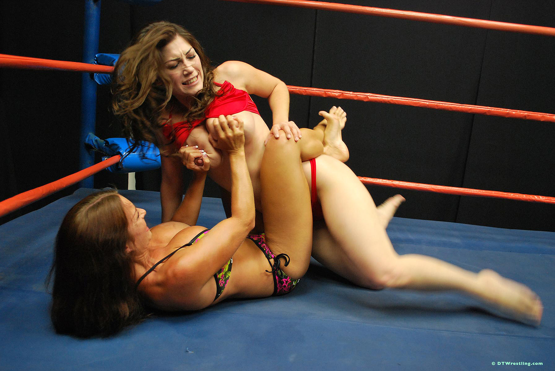 What Mature women wrestling in the nude