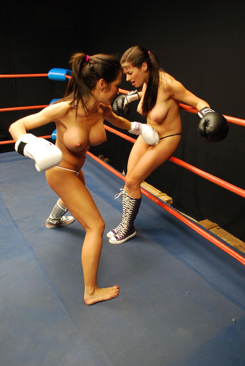Toppless female trampolining