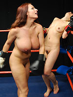 Naked female boxing