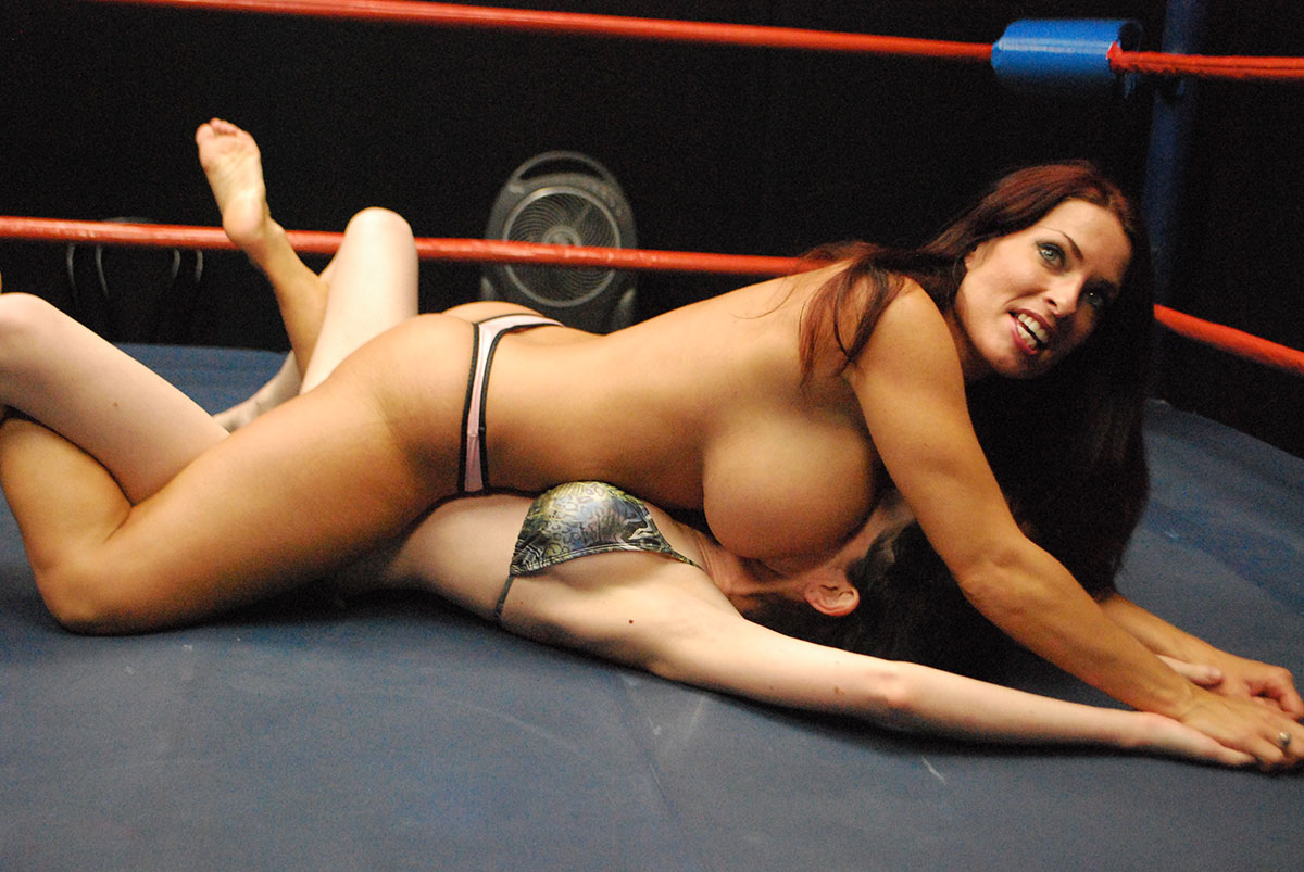 big tits sex wrestling
