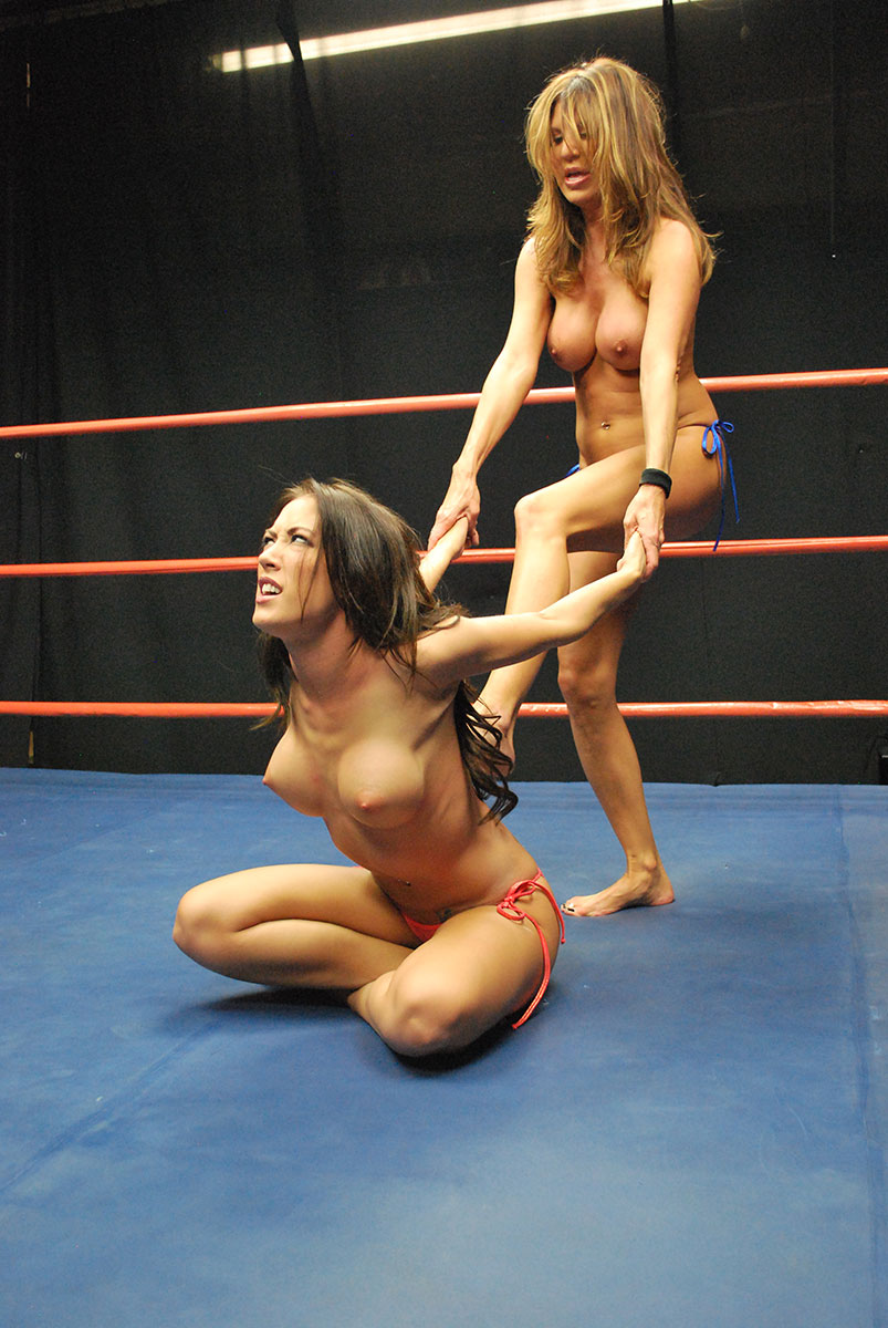 Female topless wrestling