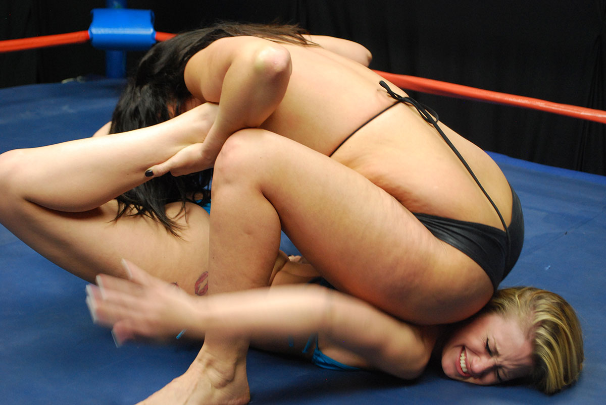 Dt Match Topless Female Wrestling Featuring Kristiana Ivy