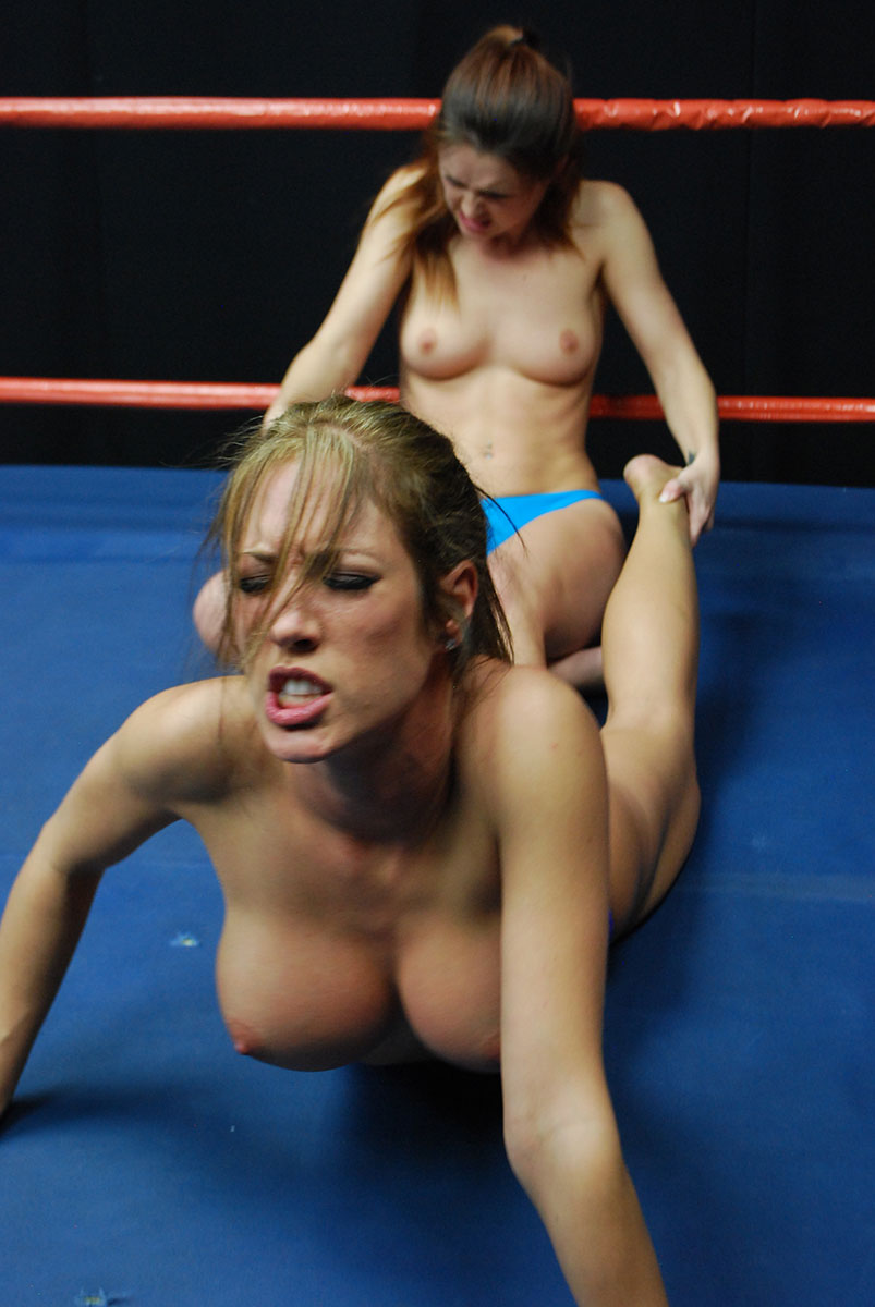 Topless womens wrestling