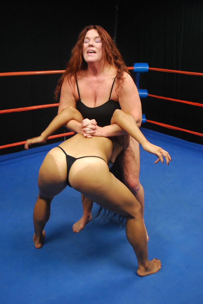 Mature women wrestle