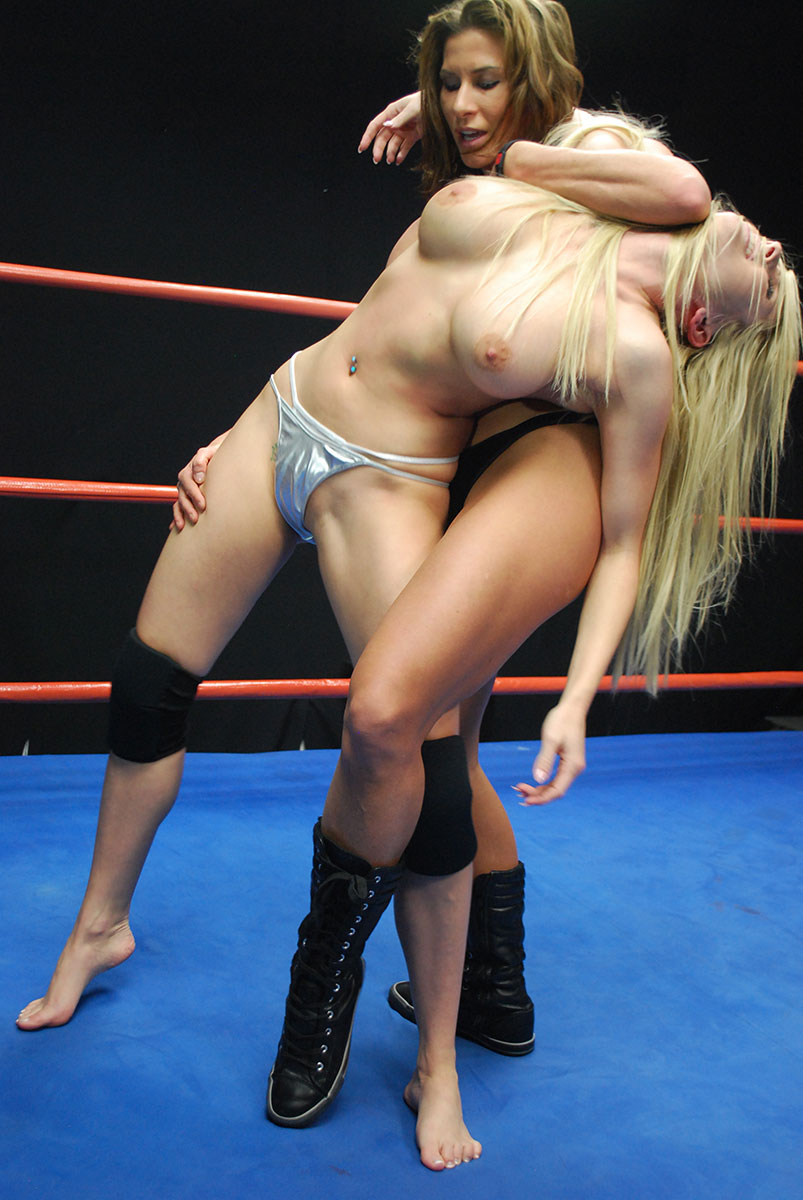 Ladies topless wrestling