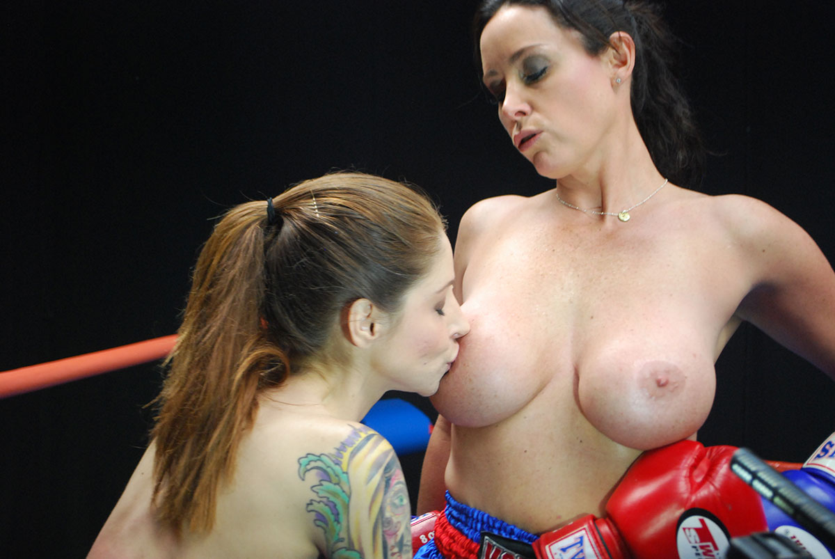 Porn boxing topless girl