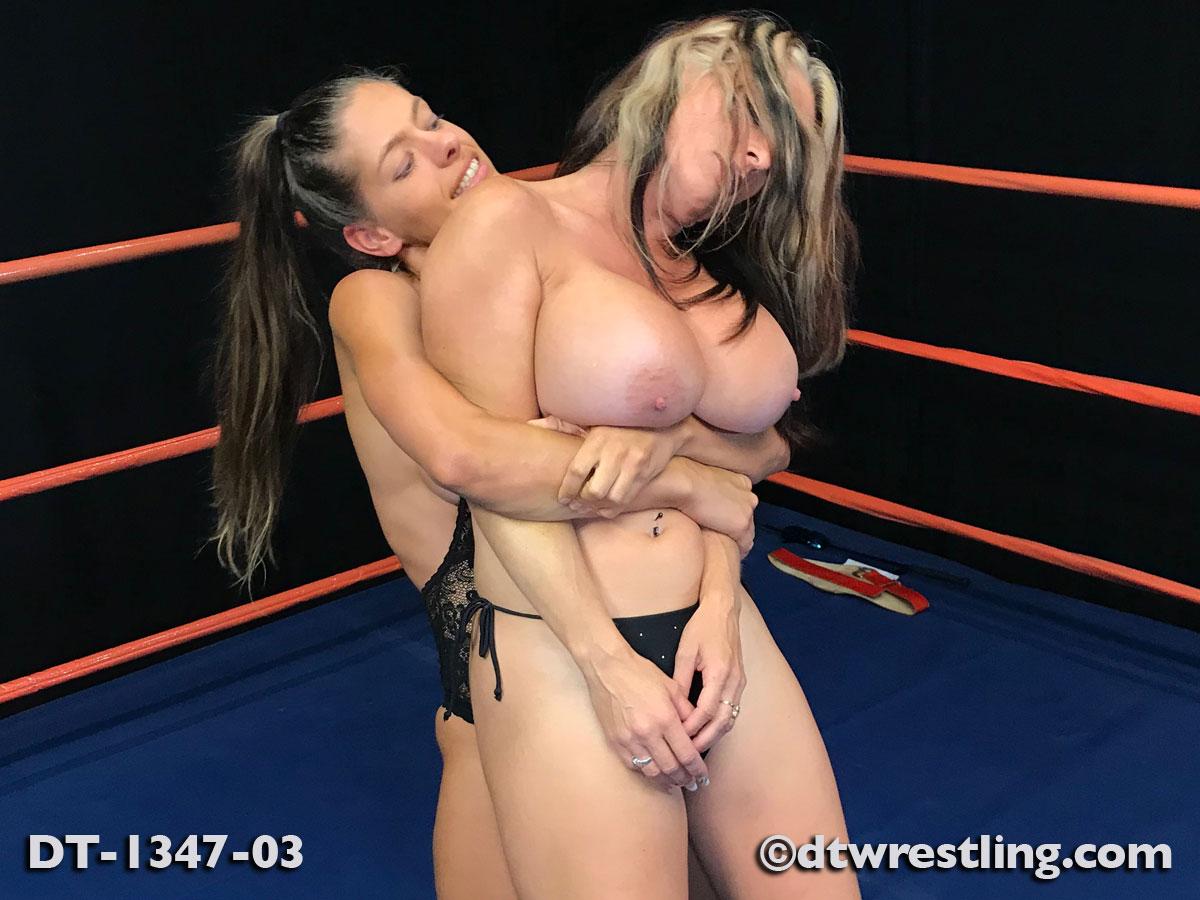 Hilarious fake tit wrestling