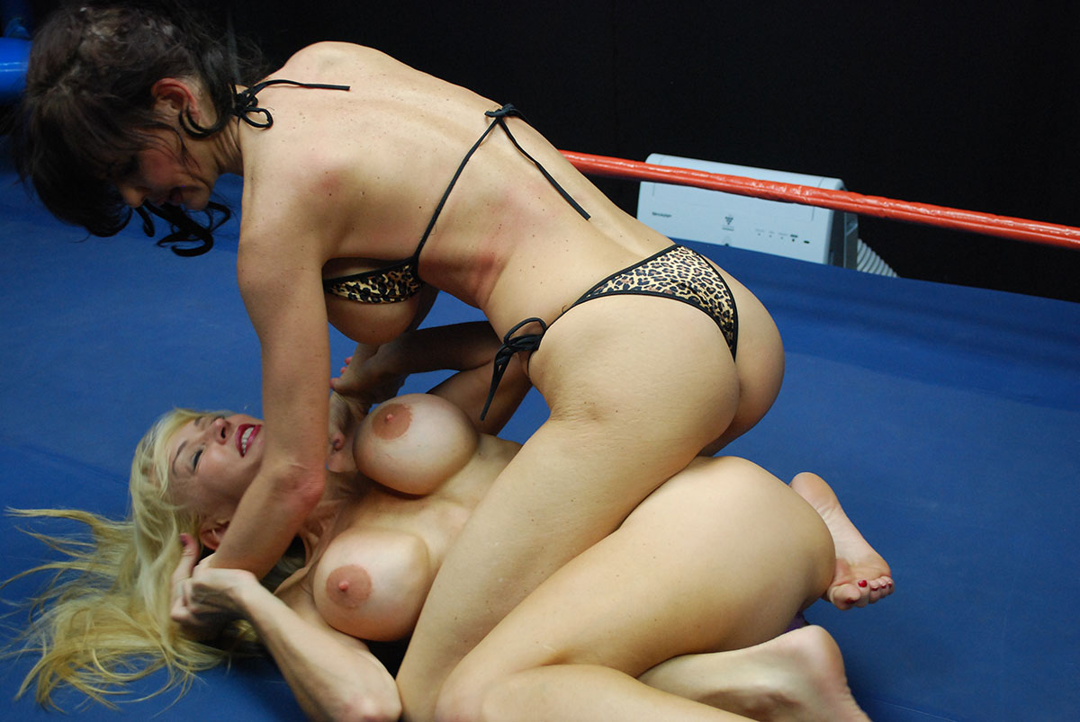 Embarrassing topless girl wrestling videos