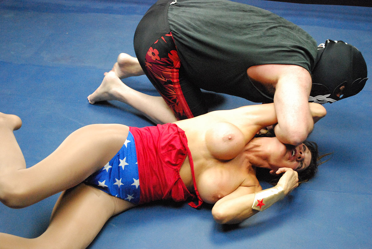 Dt Match Topless Superheroine Fantasy Featuring Hollywood Vs