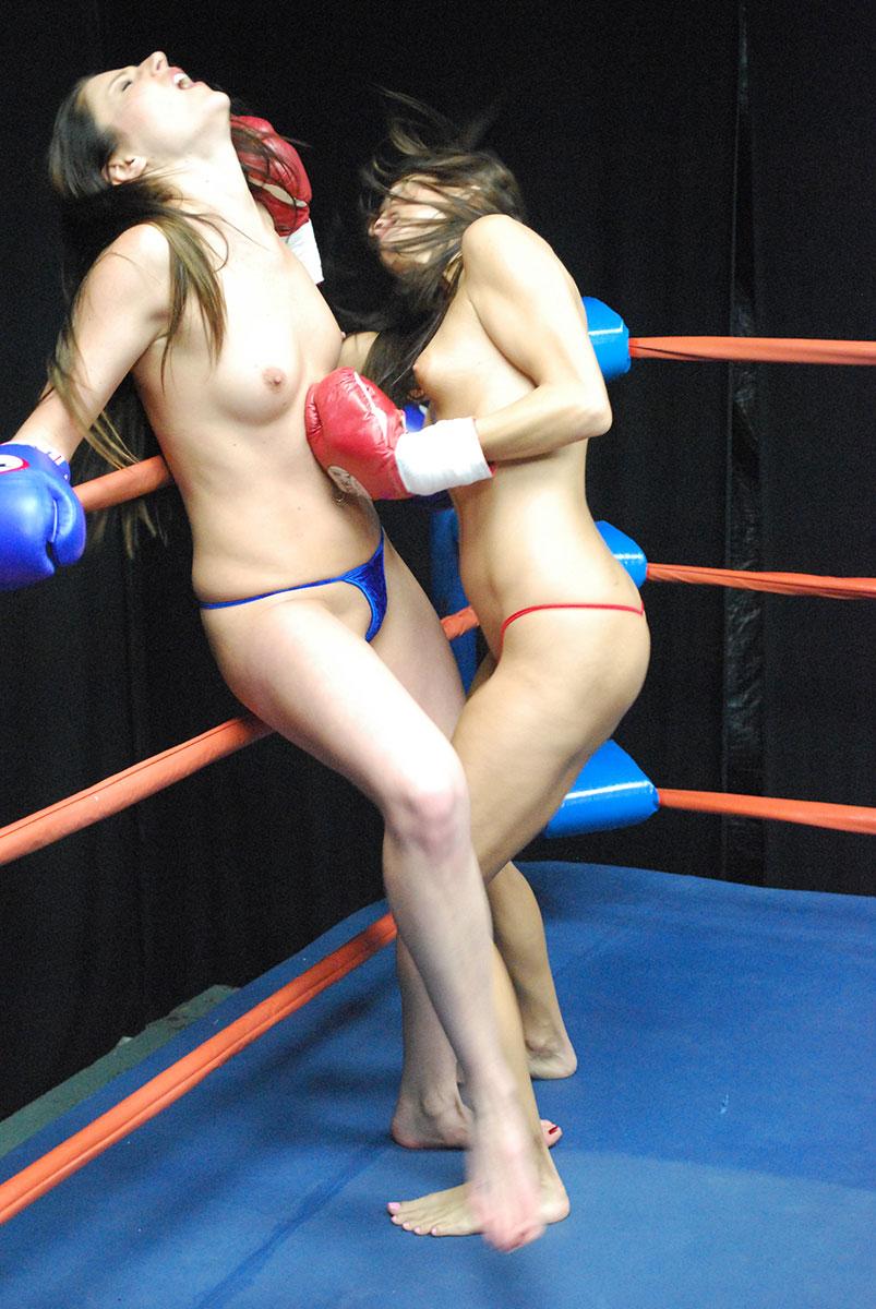 Boxing topless women Photographer Katarzyna