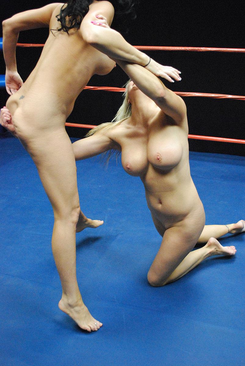 Big breasted women wrestling