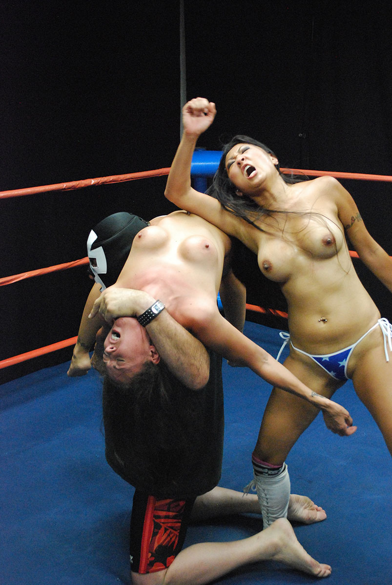Watch topless wrestling
