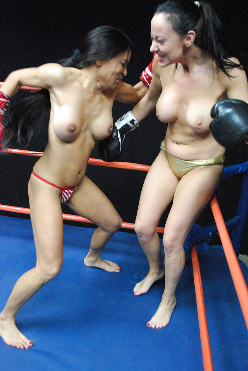 Kickboxing blonde bitch gets fucked roughly in the ring