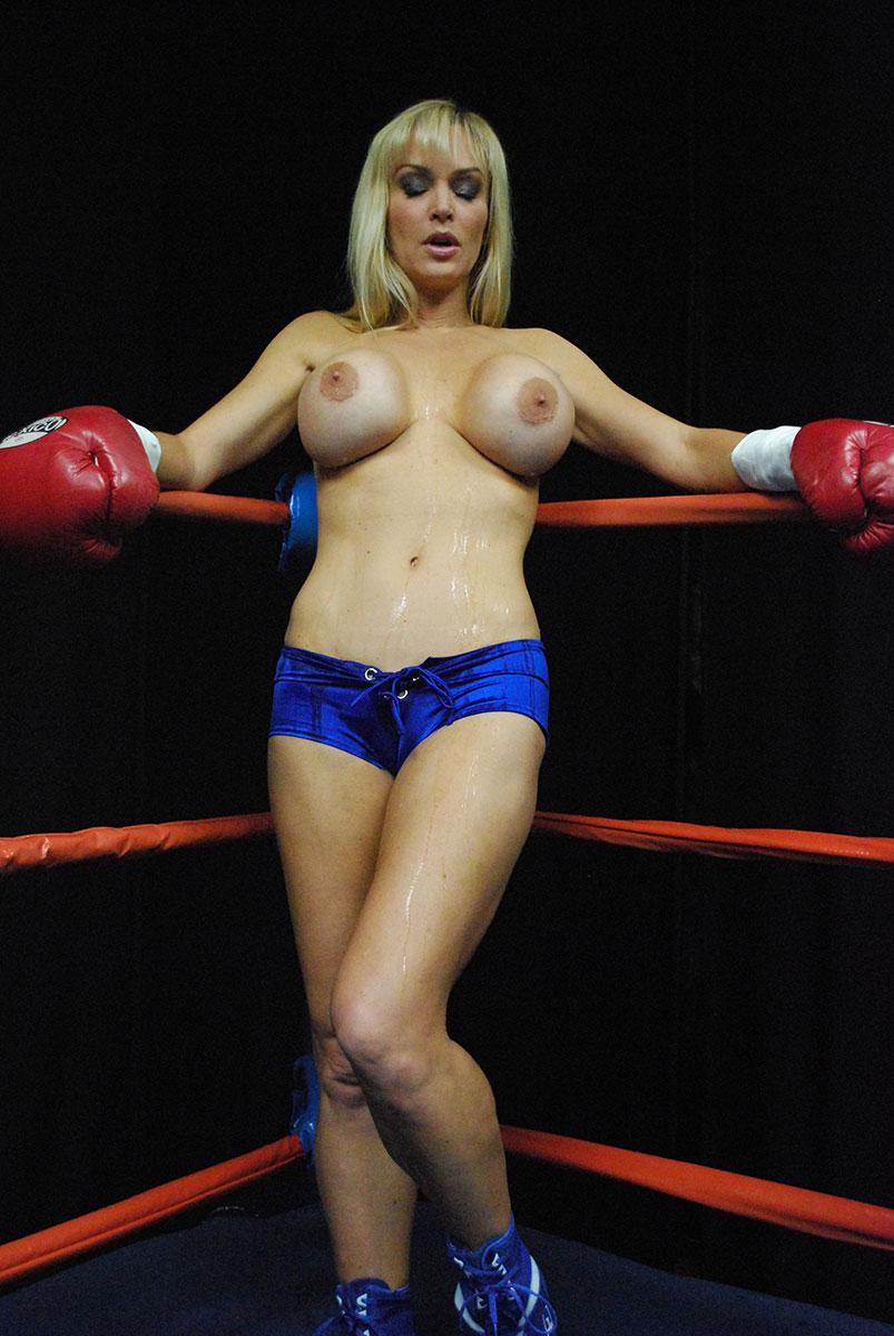 Big tits topless boxing