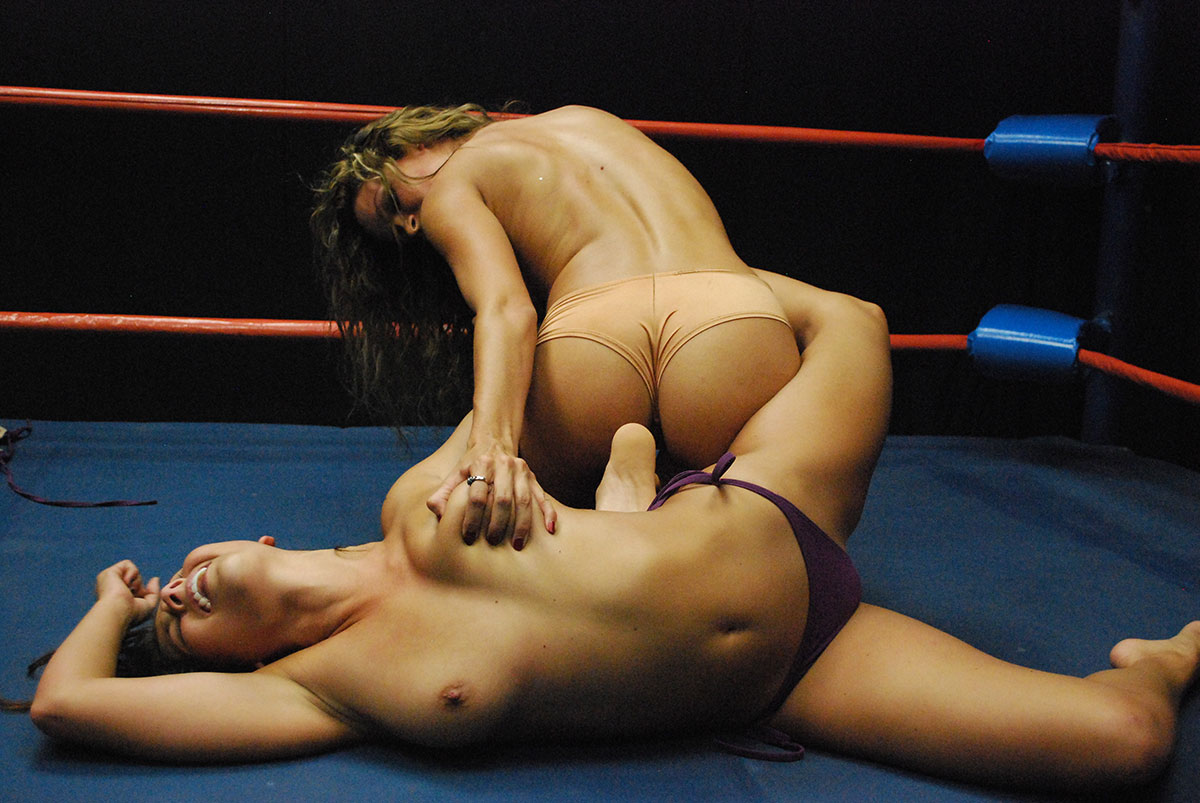 Dt Match Topless Oil Catfight Featuring Celeste Star Vs
